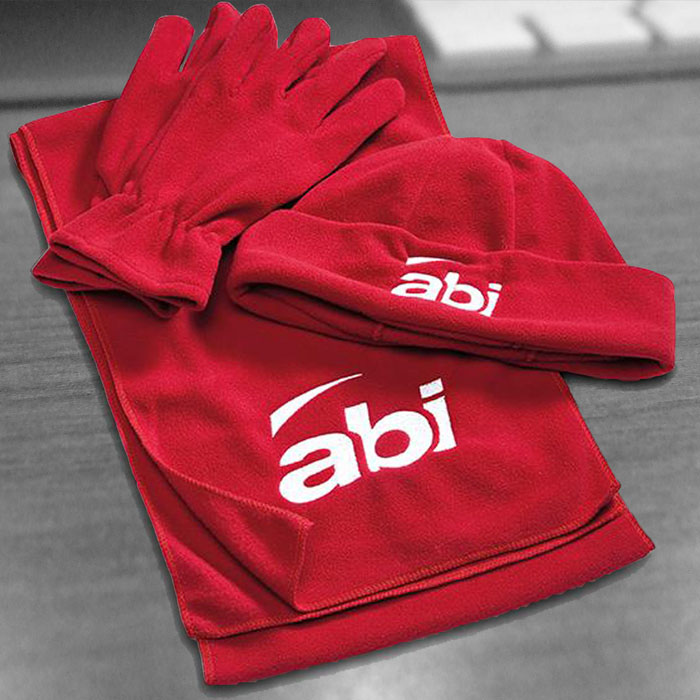 Branded-Beanie-glove--scarf-set